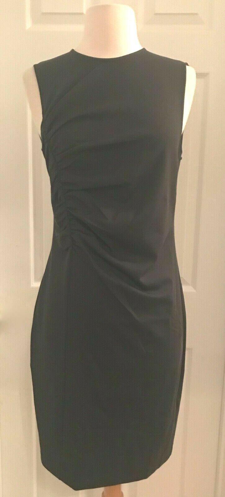 J.CREW RUCHED PONTE SHEATH DRESS DRESS DRESS Sz 6 HEATHER CHARCOAL K2197  128 00e355