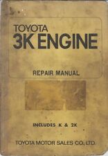 TOYOTA K / 2K 1077cc & 3K 1166cc ENGINE ORIGINAL 1971 FACTORY REPAIR MANUAL