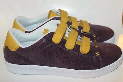 New Lacoste Men Shoes Violet W Mustard