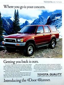 """1990 Toyota 4Runner Where You Go Is Your Concern Original Print Ad 8.5 x 11"""""""