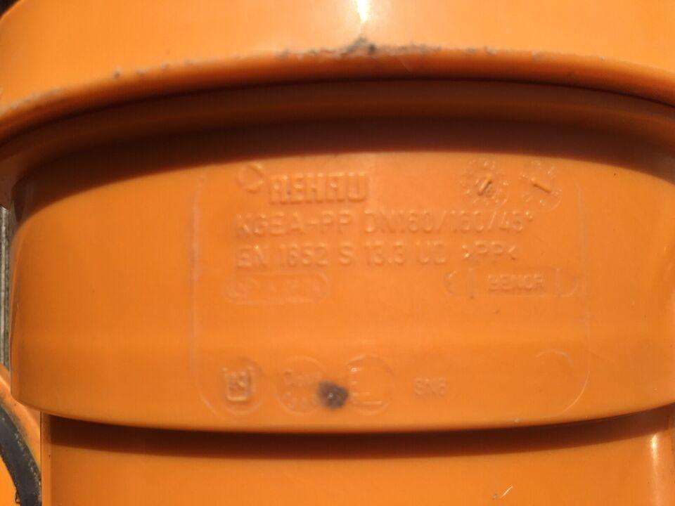 Kloakrør, 160mm kloarkrør fittings