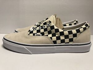 more photos wholesale price performance sportswear Details about Vans Era Primary Checkerboard Marshmallow Off White, Black  Men's Size 11