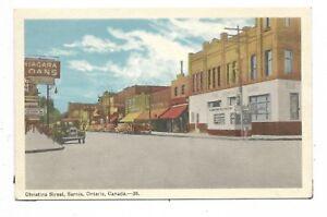 Lambton-County-SARNIA-ONTARIO-Christina-Street-Stores-Signs-Automobiles