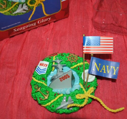 NEW American Greetings 10th ANNIVERSARY SEAGOING GLORY NAVY Wreath