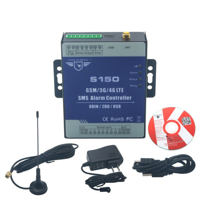 S130 USB 4G SMS Home Security Alarm System Controller Remote Control Switch Kit