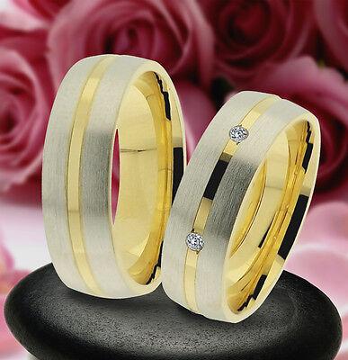 Modestil 2 Trauring Eheringe Verlobungsringe , Gold Platiert , J237-3 Rheuma Und ErkäLtung Lindern