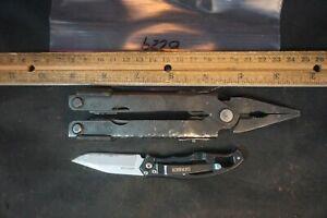 8229 2 Gerber items: multi-tool and pocket knife