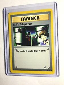 Pokemon 1st Ed Neo Genesis Set UN-COMMON Bill/'s Teleporter 91//111 NM//M