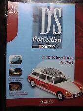 FASCICULE N°26 CITROEN DS  COLLECTION ID BREAK RTL 1963