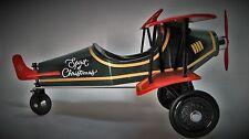 Christmas Pedal Air plane Car WW1 Vintage Aircraft Rare Midget Metal Model