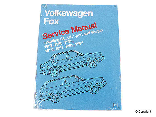 Repair Manualbentley Wd Express 989 54021 243 Fits 8793 Vw Fox Ebayrhebay: 1988 Vw Fox Wagon Fuse Box At Gmaili.net