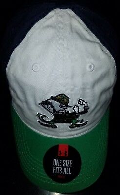 official store latest design pretty cool 1253 Adjustable Notre Dame Fighting Irish Under Armour Hat-White ...