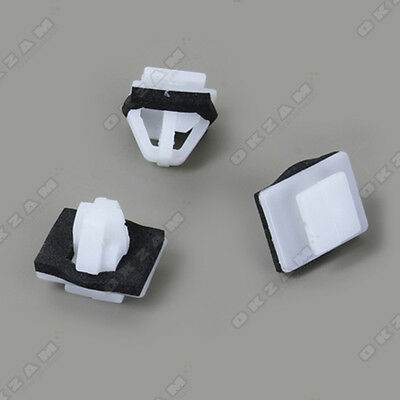 DOOR TRIM PANEL CLIPS FOR HYUNDAI TUCSON x10 WHITE
