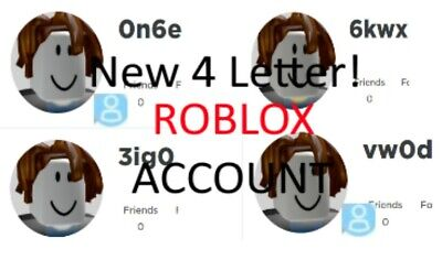 Roblox 4 Letter Username Accounts Ebay