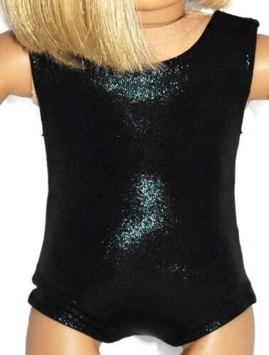 "SHINY BLACK LEOTARD Dance//Gymnastics Doll Clothes Fits 18/"" American Girl Dolls"