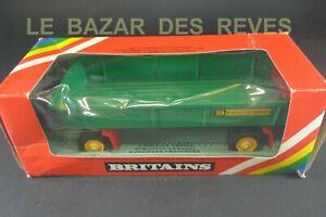 BRITAINS GB. Remorque à 8 roues. REF: 9558.  (1980)