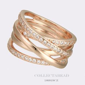 anillo pandora rose entrelazados