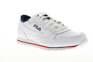 Details Lace About Low Sneakers Shoes Mens Fila Euro White Leather Up Jogger Top Ii WE29DYIeH