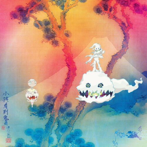 "Kanye West Kid Cudi Kids See Ghosts Album Poster 32x32/"" 24x24/"" 18x18/"" 2018 Silk"