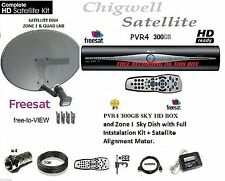 SKY+ HD BOX FREESAT BOX INCLUDEDS ZONE 1 SKY DISH INSTALL KIT