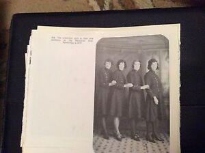 74-9-ephemera-reprint-picture-crumlin-memorial-hall-usherettes-newbridge-1931