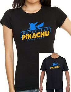 5e05ae9b Image is loading Ladies-fitted-and-kids-POKEMON-Inspired-Detective-Pikachu-