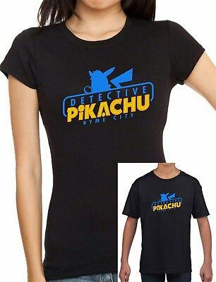 Verantwortlich Ladies Fitted And Kids Pokemon Inspired Detective Pikachu Ryme City T-shirt Angenehm Zu Schmecken
