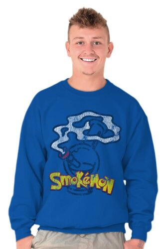 Smokemon Weed 420 Anime TV Show Stoner Weed Crewneck Sweat Shirts Sweatshirts