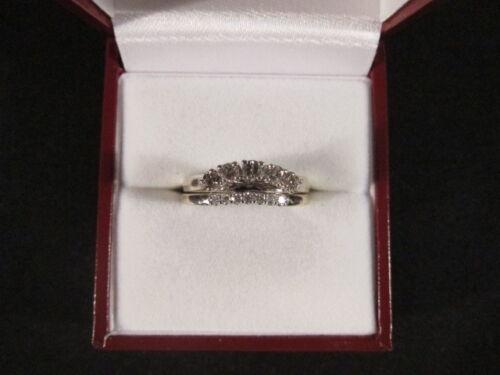 Beautiful 18ct. & 9ct. white gold engagement & wedding ring set