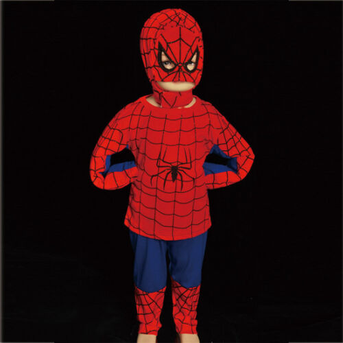 Spiderman Superhero Fancy Halloween Party Costume Outfit Kid Boy Age 2-7 Yrs 005