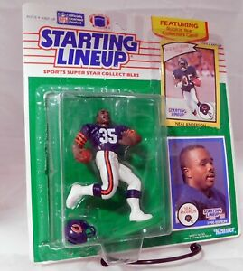 Kenner 1990 Starting Lineup NFL Neal Anderson Chicago Bears & Cards Rookie