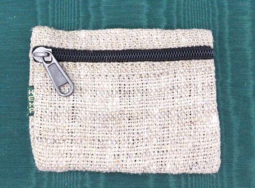 Hemp Coin Purse Natural Bag Pouch Credit Card ID Holder Wallet New