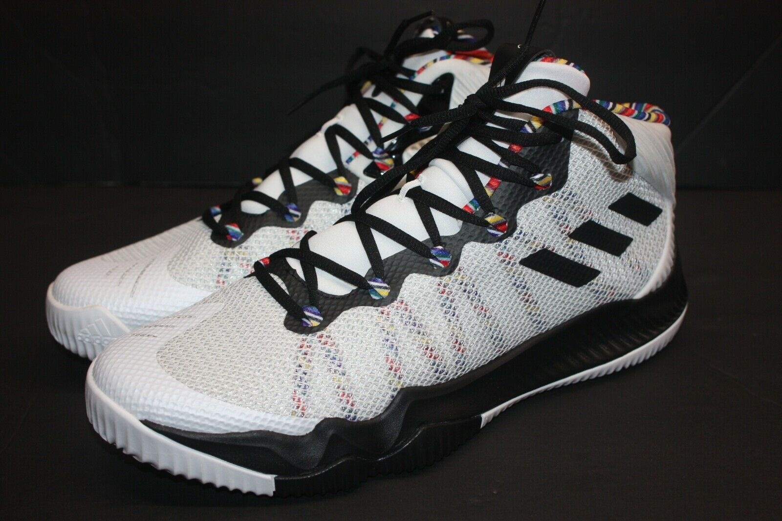 Adidas Crazy Hustle Arthur Ashe BHM shoes Mens Size 13.5 BY4518