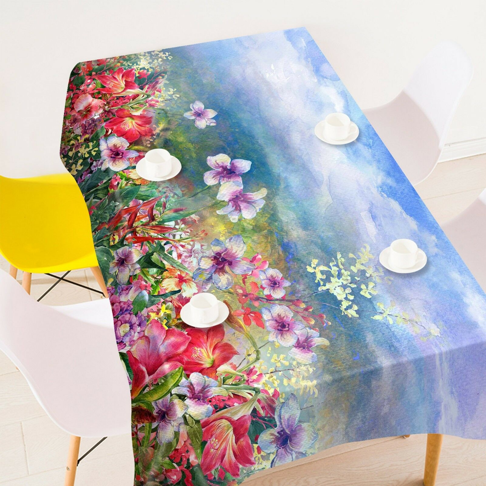 3D Paint Petals 347 Tablecloth Table Cover Cloth Birthday Party Event AJ Summer