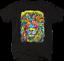 Multicolor-Neon-Color-Majestic-Lion-King-of-Jungle-Big-Cat-Safari-T-shirt thumbnail 1