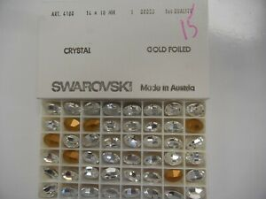 Details about 12 swarovski oval stones,14x10mm crystal #4100 SPECIAL PRICE