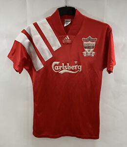 Liverpool Centenary Home Football Shirt 1992/93 Adults Small Adidas A673