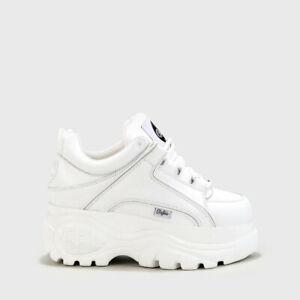 Details zu Buffalo London Classic Boots Shoes Plateau Schuhe 90er Weiß 1339 14