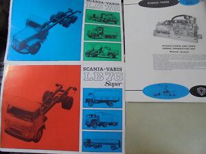 23296 Scania Vabis Lb 76 Ls 76 + Asea Diesel Generating Set 1965 3 Feuilles-afficher Le Titre D'origine