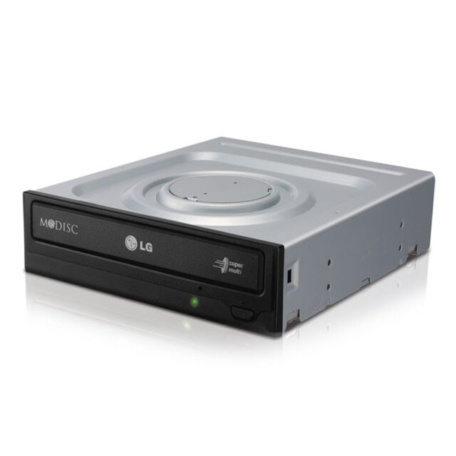 DVD BRENNER PC DVD-RW (RAM) LG 24x SATA G-H24NSD1 (AUAA10B) Schwarz / Bulk / Neu