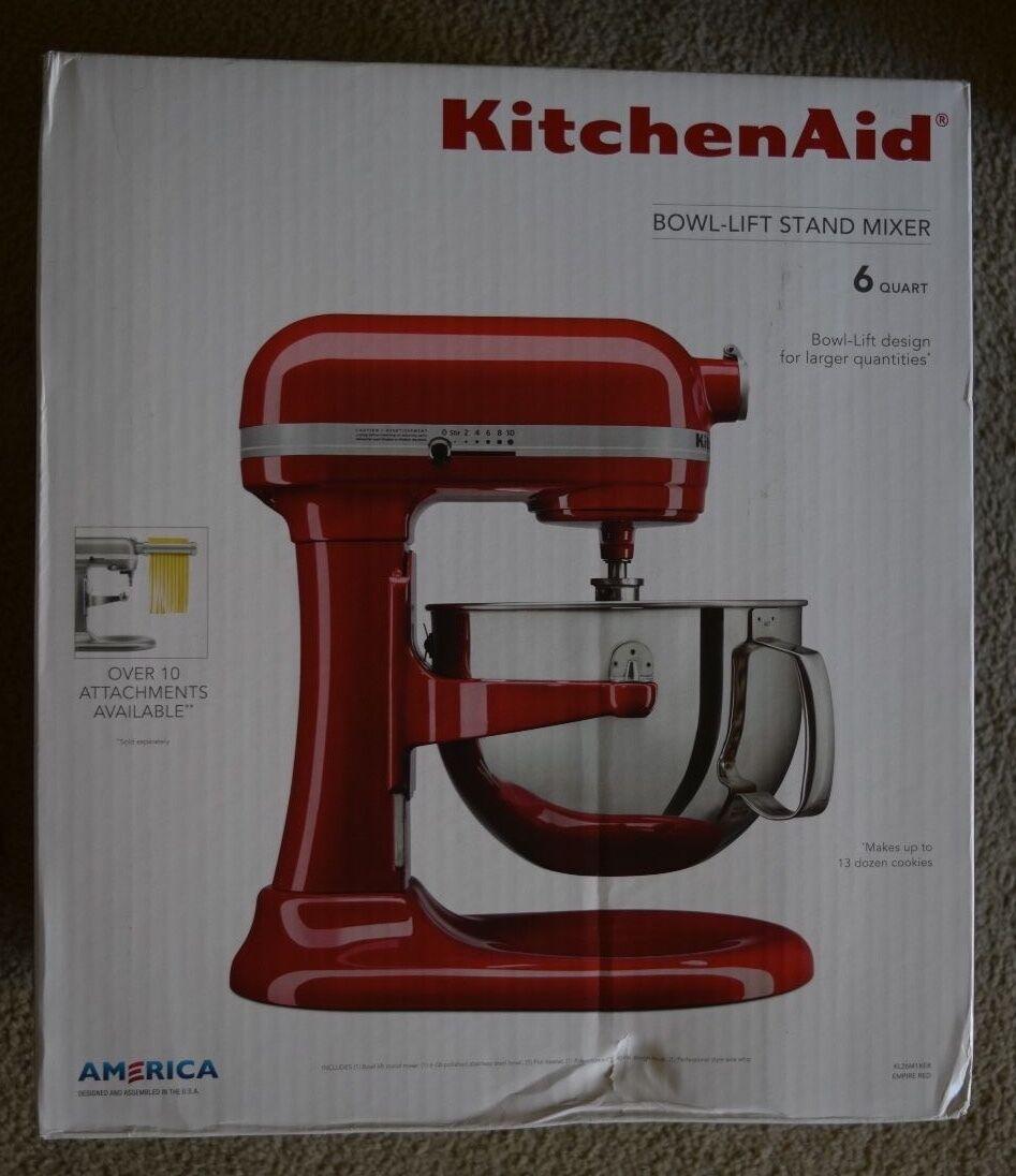 KitchenAid KL26M1XER Professional 6-Qt. Bol-Lift Stand Mixer-Empire Rouge-Neuf