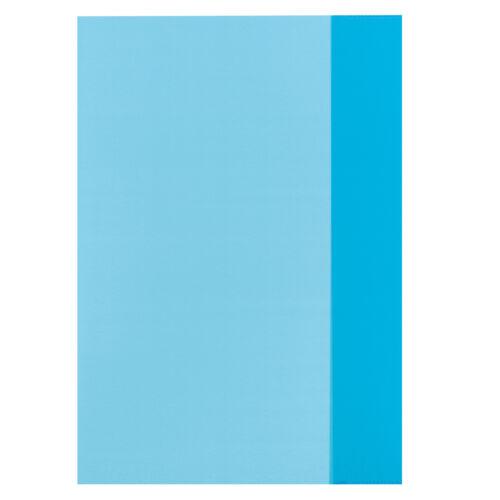 transparent blau 10 Herlitz Heftumschläge Hefthüllen DIN A4 Farbe