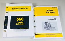 Service Parts Manual For John Deere 550 Crawler Bulldozer Repair Shop 550c Set