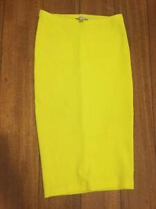 Witchery-Neon-Yellow-Summer-Pencil-skirt