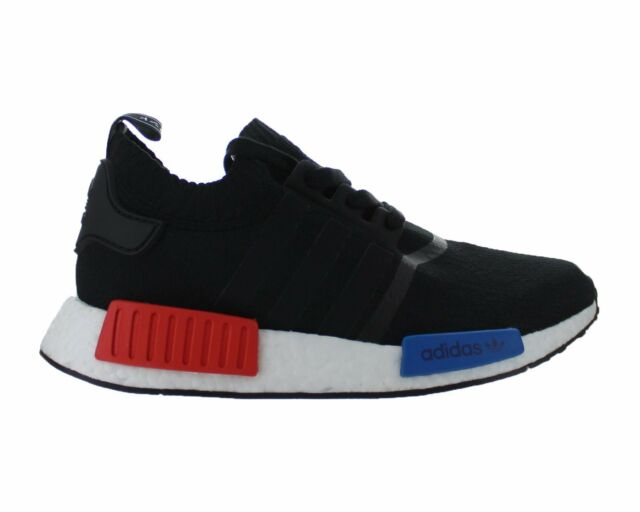 dbc73d14a Mens adidas NMD R1 Primeknit OG Core Black Lush Red Blue S79168 US ...