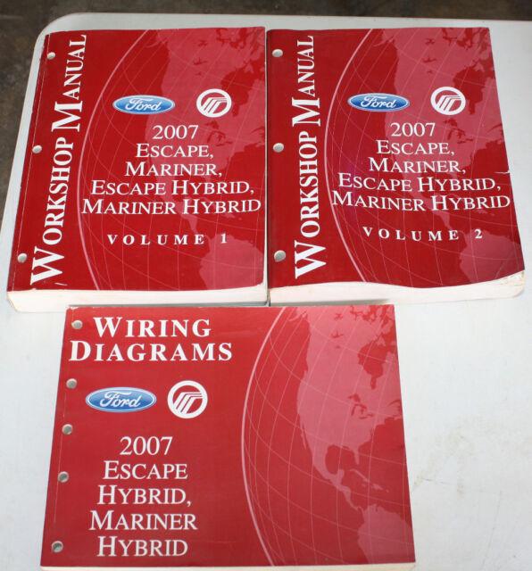 2007 Escape Mariner Hybrid Workshop Manuals  U0026 Wiring
