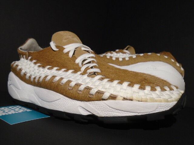 06 NIKE AIR FOOTSCAPE WOVEN HIDEOUT PONY HAIR BEECHTREE SAIL BLACK 314210-212 13
