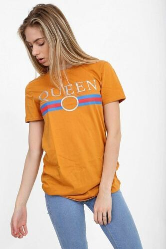 Women Ladies QUEEN BONJOUR GUILTY Slogan Celeb Novelty Tops Vintage T Shirt 8-26