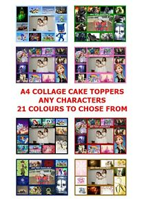 OWN PERSONALISED COLLAGE PHOTO A4 EDIBLE CAKE TOPPER CUSTOM MADE MAKE PICTURE