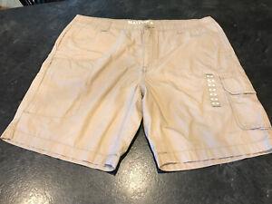 Nautica Tostado Caqui Para Hombre Flat Front Chino Pantalones Cortos Camuflados Talla 40 Nuevo Sin Etiquetas Ebay